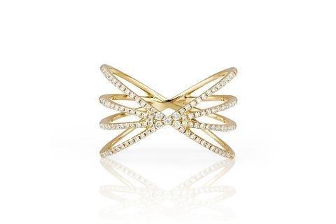 ef collection diamond sunburst ring