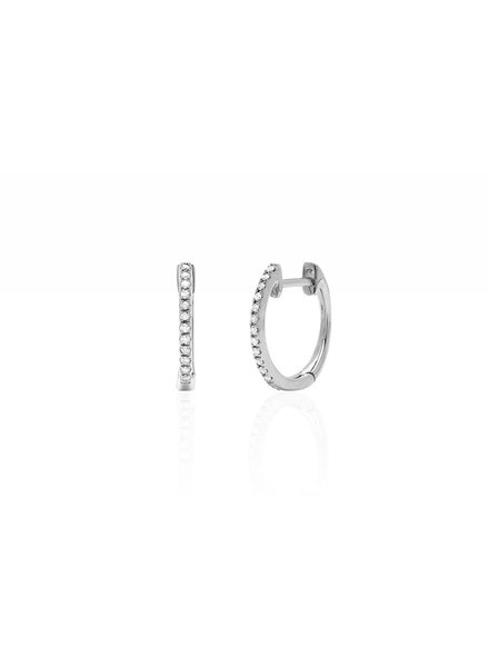 ef collection diamond huggie earrings
