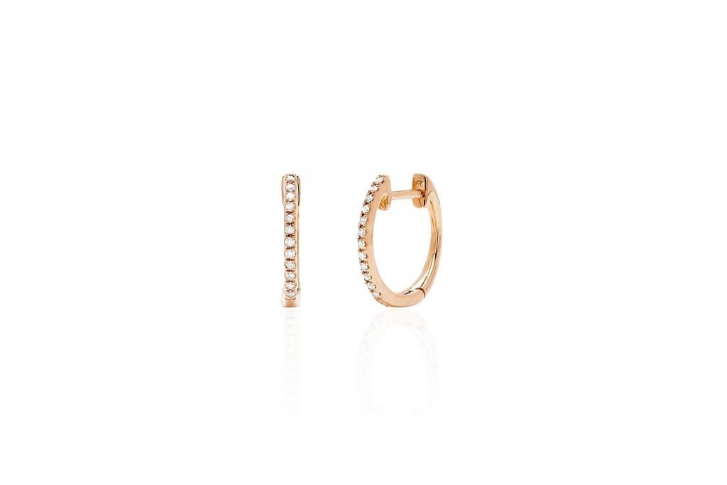 ef collection diamond huggie earrings