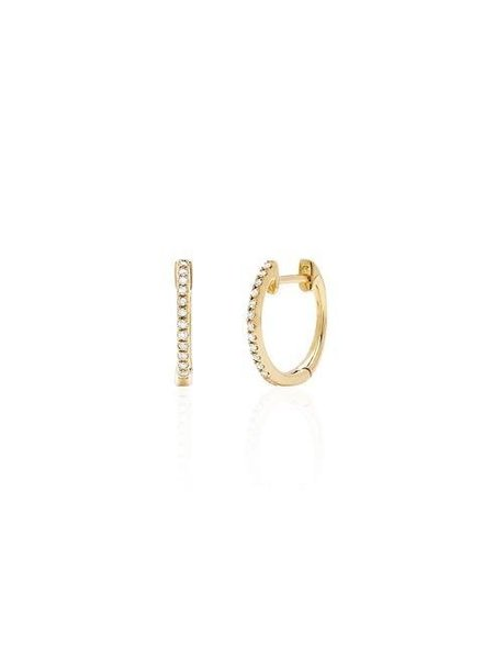 ef collection diamond mini huggie earring