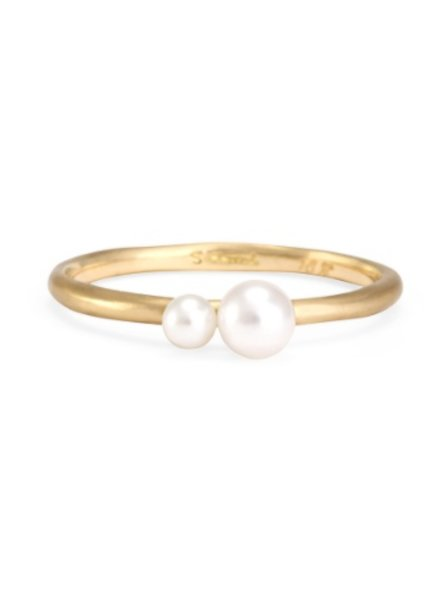 satomi kawakita jewelry married double pearl ring