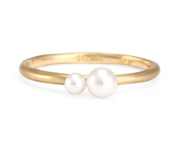 satomi kawakita jewelry married double pearl ring