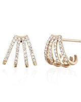 ef collection multi diamond huggie earrings