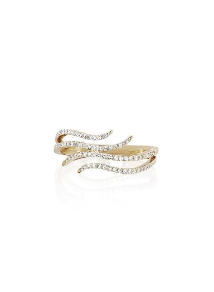ef collection diamond double wave ring