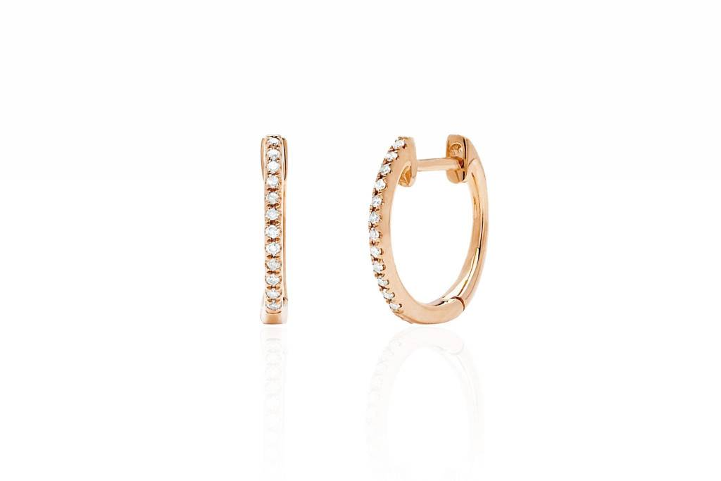 ef collection diamond mini huggie earrings - single