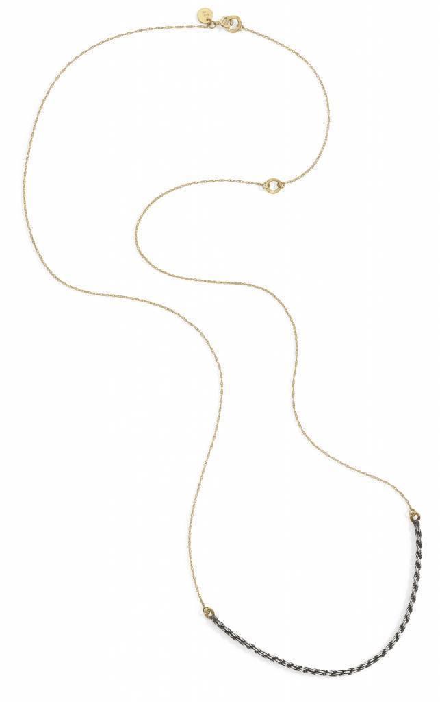 blanca monros gomez two tone necklace