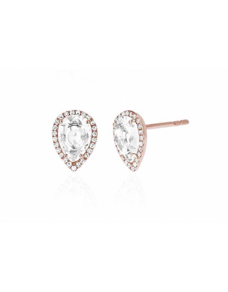 ef collection diamond white topaz tear drop stud