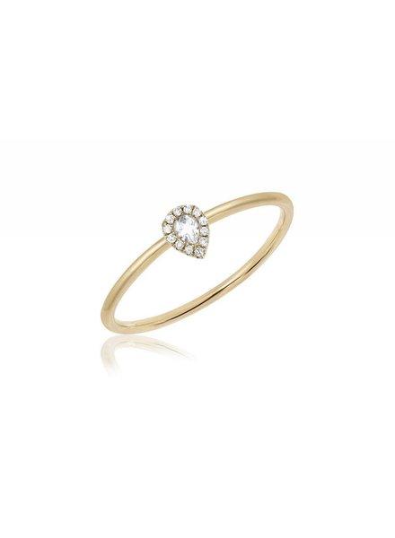 ef collection diamond white topaz mini teardrop stack ring