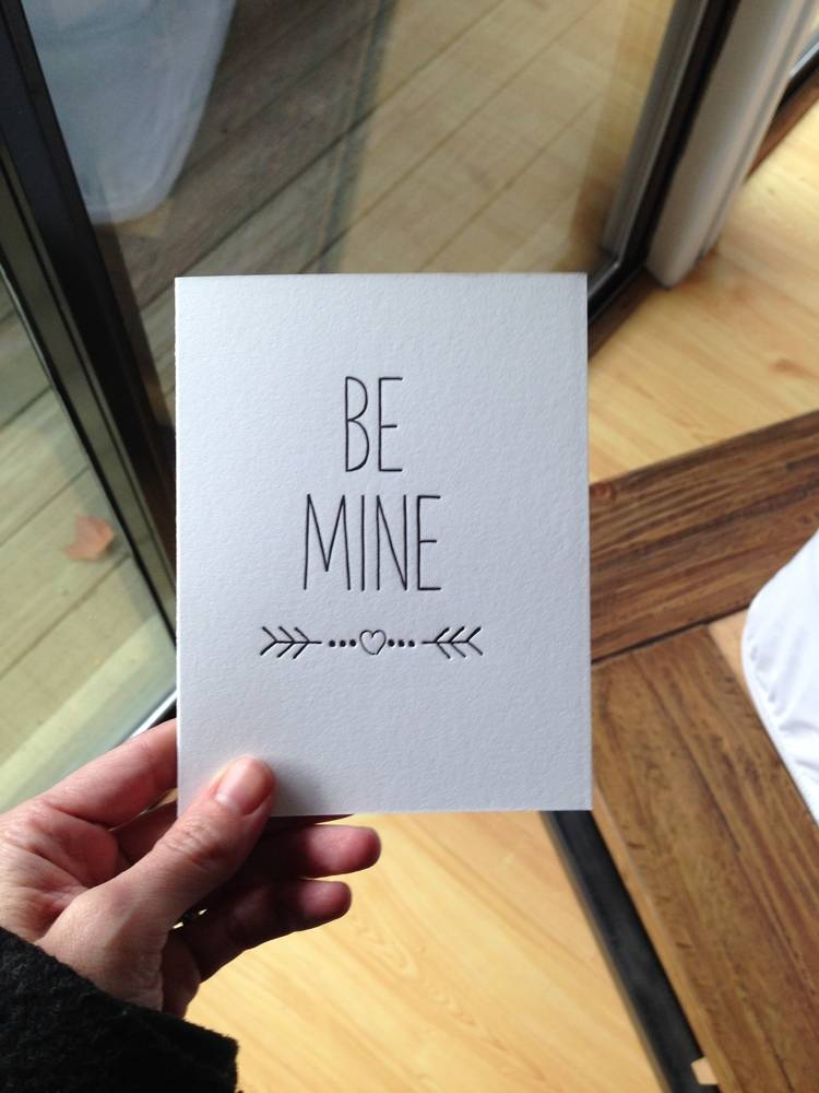 "tiny bones press ""be mine"" card"