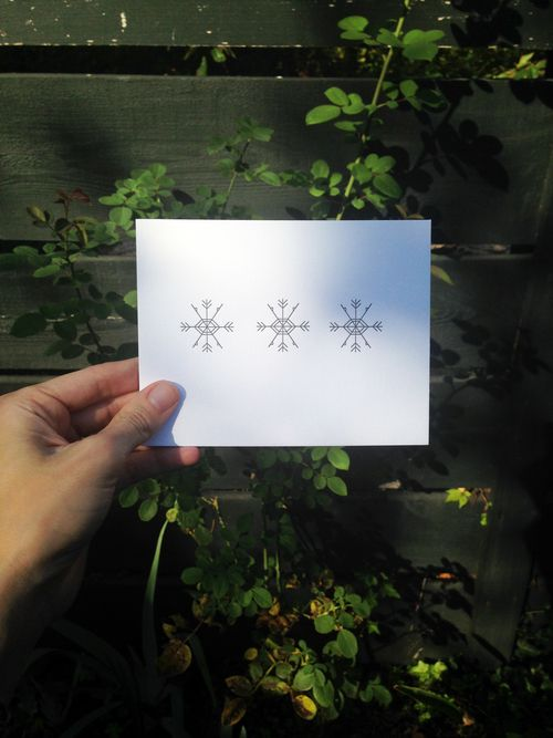 "tiny bones press ""snowflakes"" card"