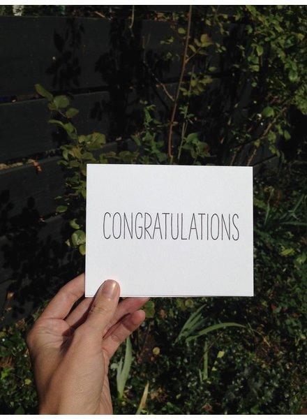 """tiny bones press """"congratulations"""" card"""