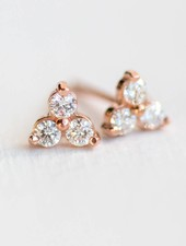melanie casey jewelry tiny diamond trio stud