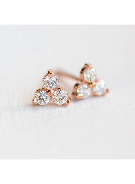 melanie casey jewelry tiny diamond trio stud