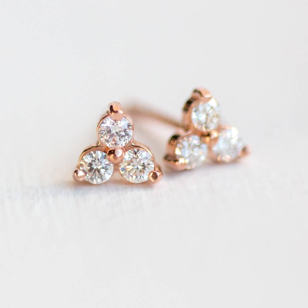 melanie casey jewelry tiny diamond trio stud (single)