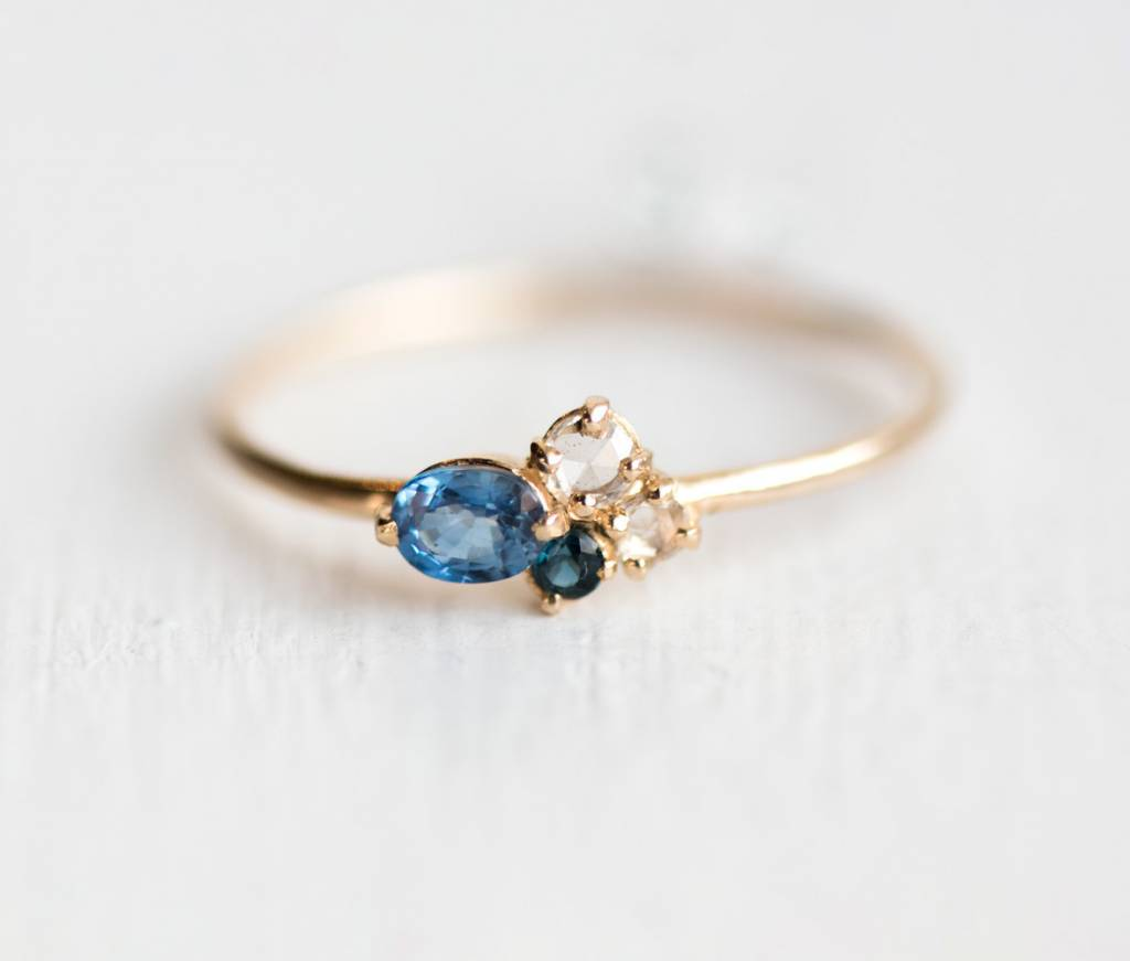melanie casey jewelry blueberry mini cluster ring
