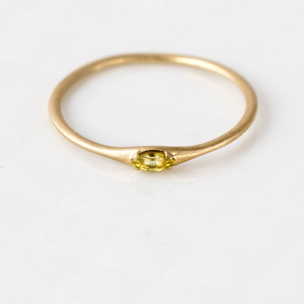 melanie casey jewelry yellow sapphire marquise ring