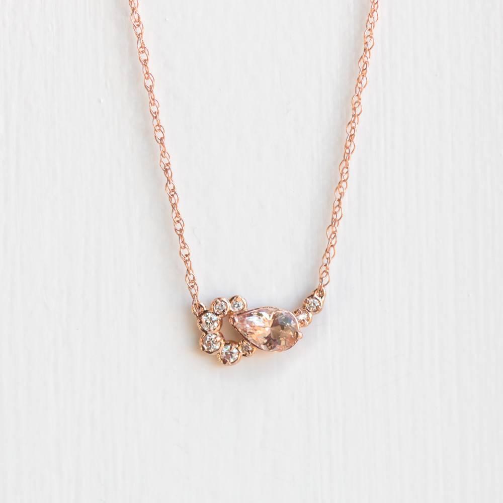 melanie casey jewelry morganite shortcake necklace