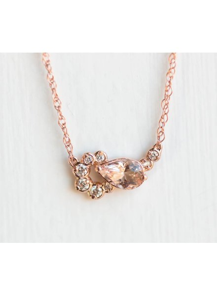melanie casey jewelry morganite shortcake necklace