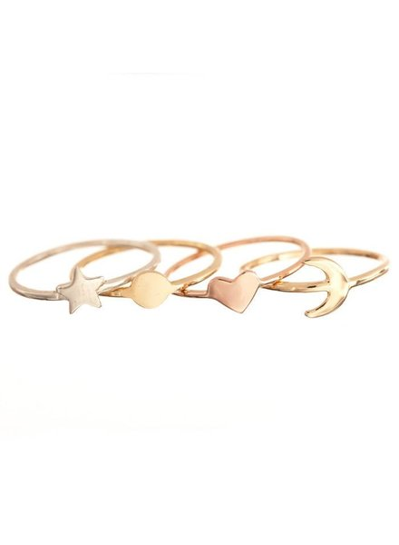 ariel gordon mini shape rings