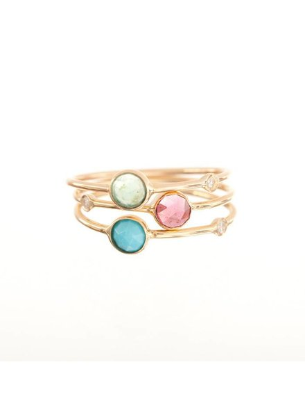 ariel gordon mini rose cut stacking ring with diamond