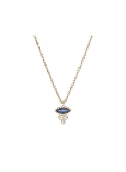 jennie kwon designs marquise sapphire crown necklace