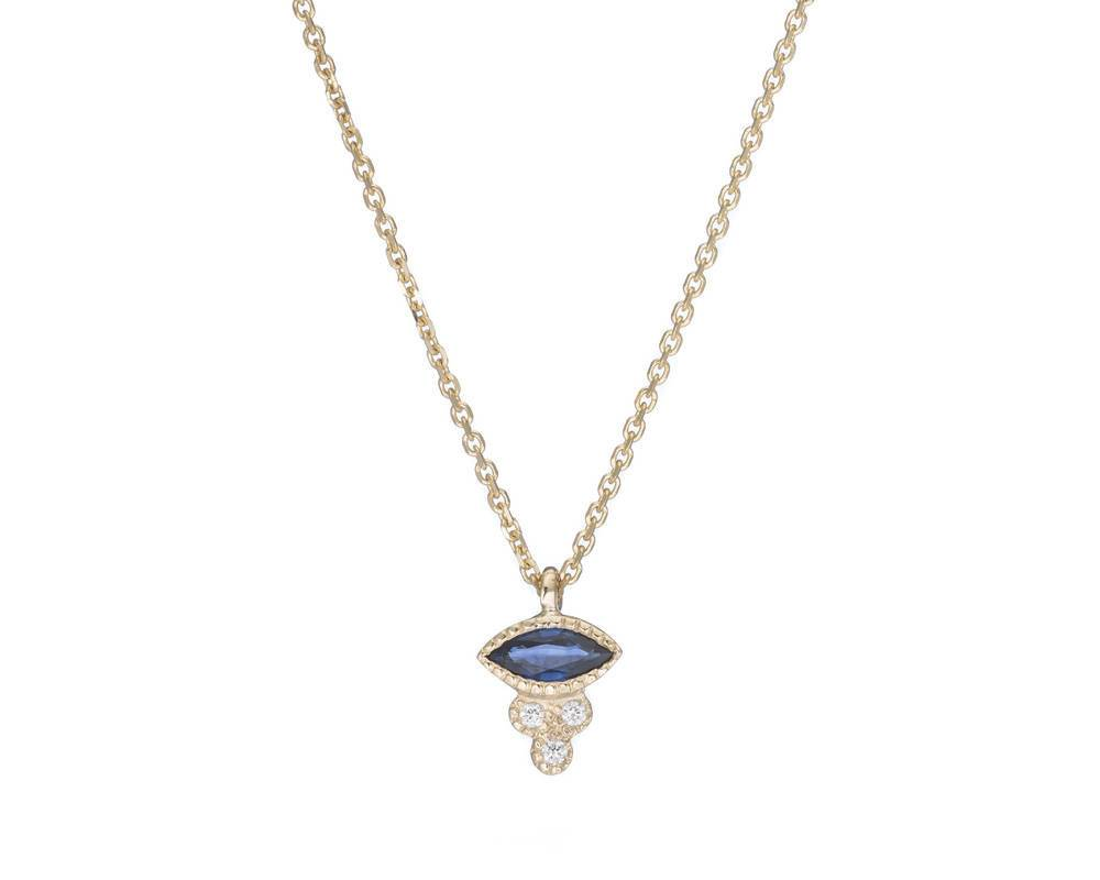 jennie kwon designs marquise sapphire crown necklace
