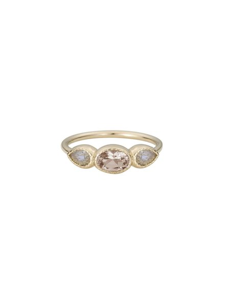 jennie kwon designs morganite lab ring