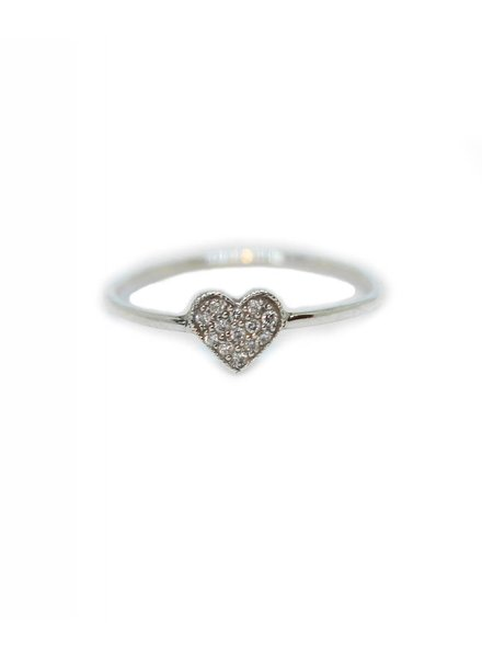 ariel gordon mini heart shape ring with pavè diamonds