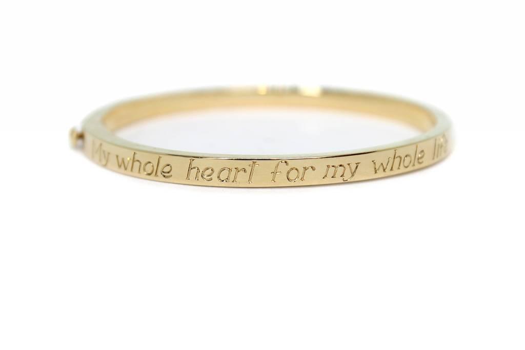 "ariel gordon ""My Whole Heart For My Whole Life"" poesy signet bangle"