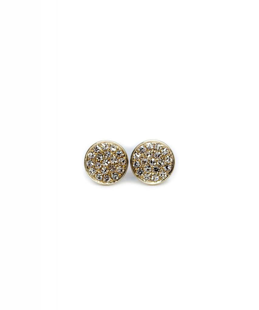 ef collection diamond mini disc studs