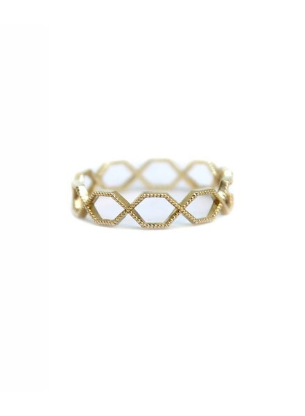 grace lee designs beaded hexagon eternity ring