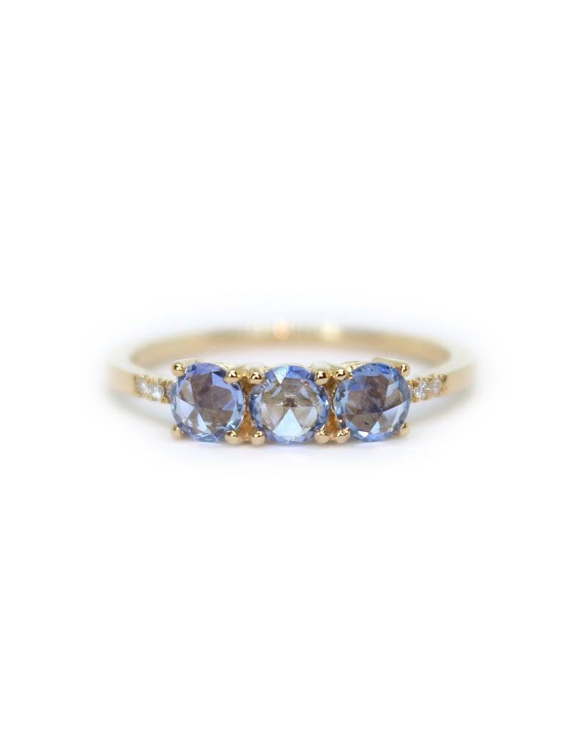 jennie kwon designs rose cut sapphire equilibrium ring