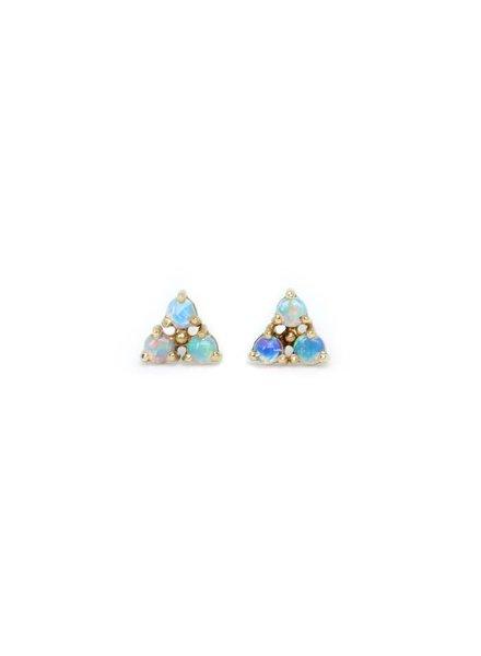 wwake tri-opal earrings