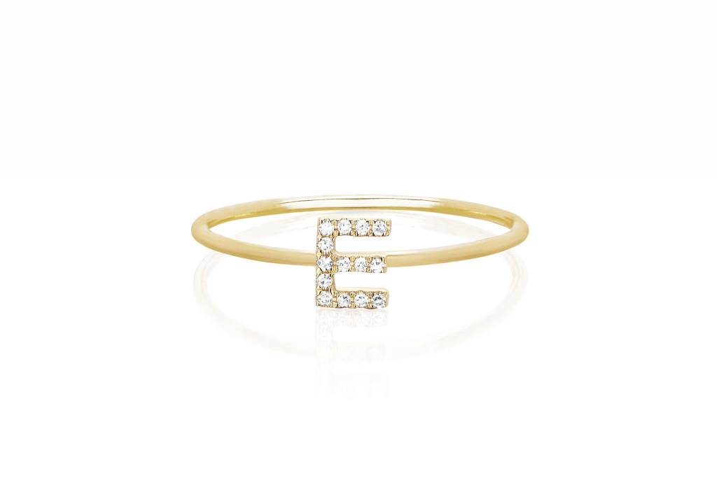 ef collection mini initial stack ring