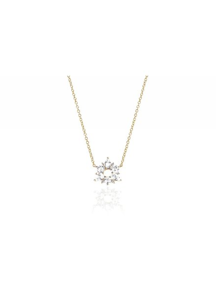 ef collection diamond white topaz cluster necklace