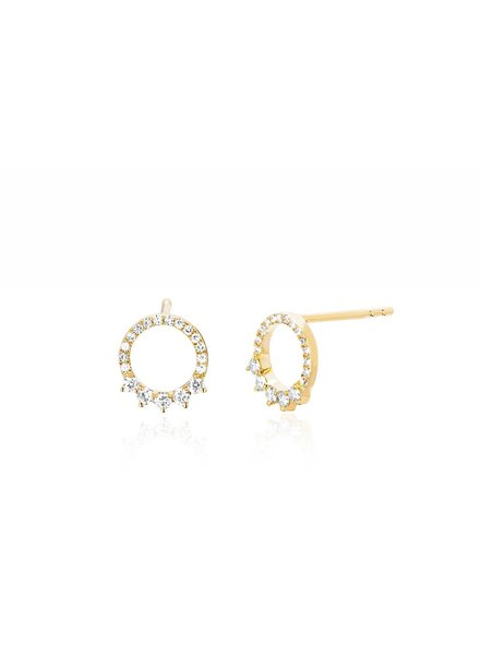 ef collection floating open circle earring