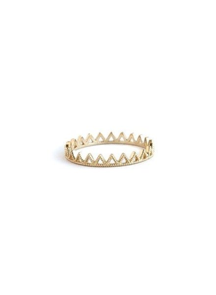 grace lee designs beaded triangle eternity ring