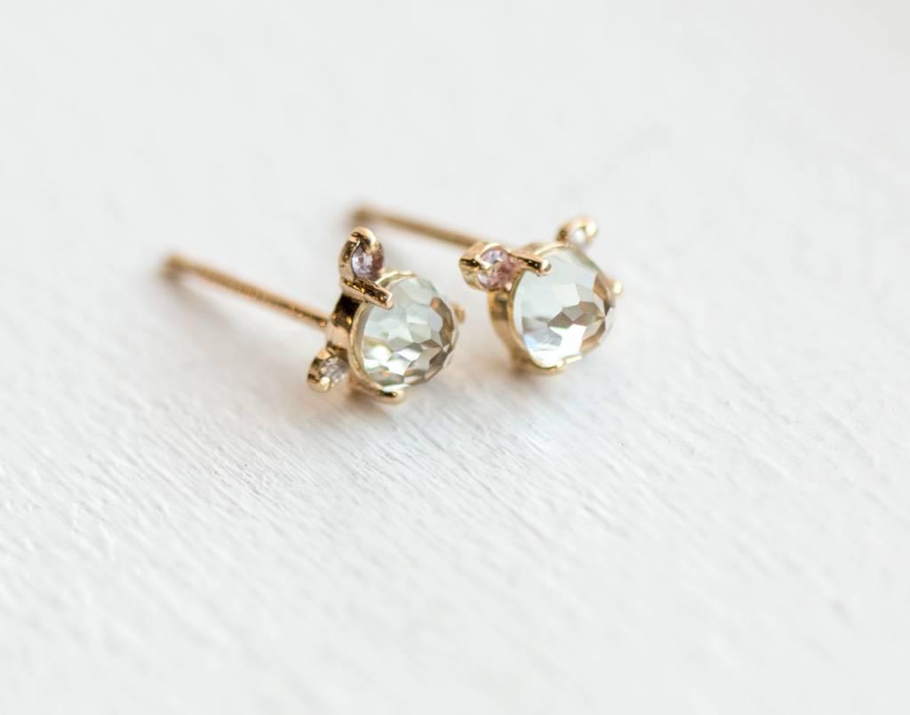 melanie casey jewelry flower bud stud earring (single)