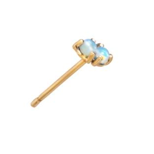 wwake two step earrings opal/opal - single