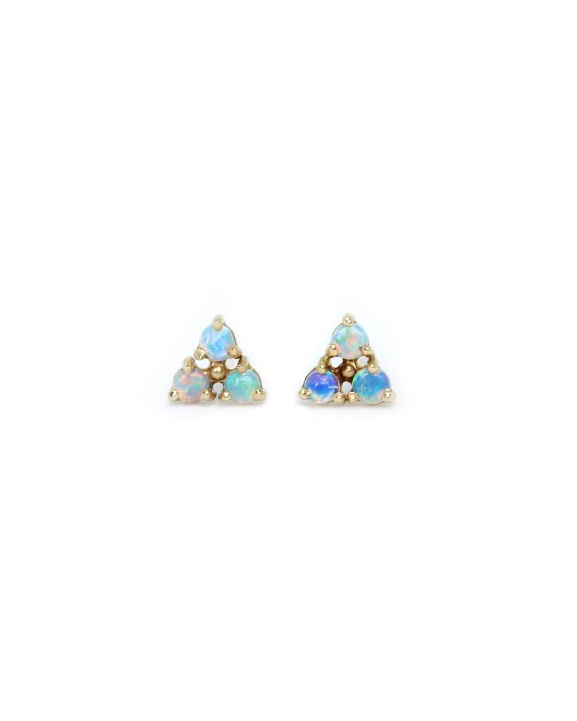 wwake tri-opal earrings - single