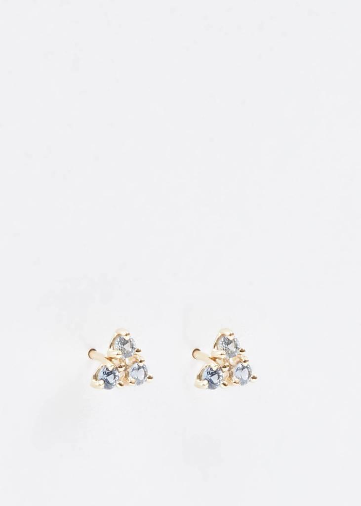 wwake tri-sapphire earrings - single