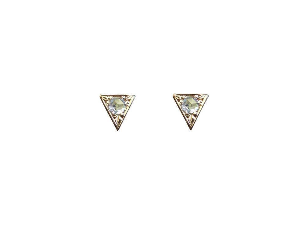 hortense sm. arrowhead diamond earring - single