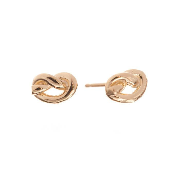 ariel gordon love knot stud earring - single