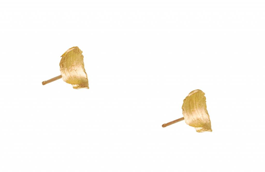 wwake short smeared flake earring - single