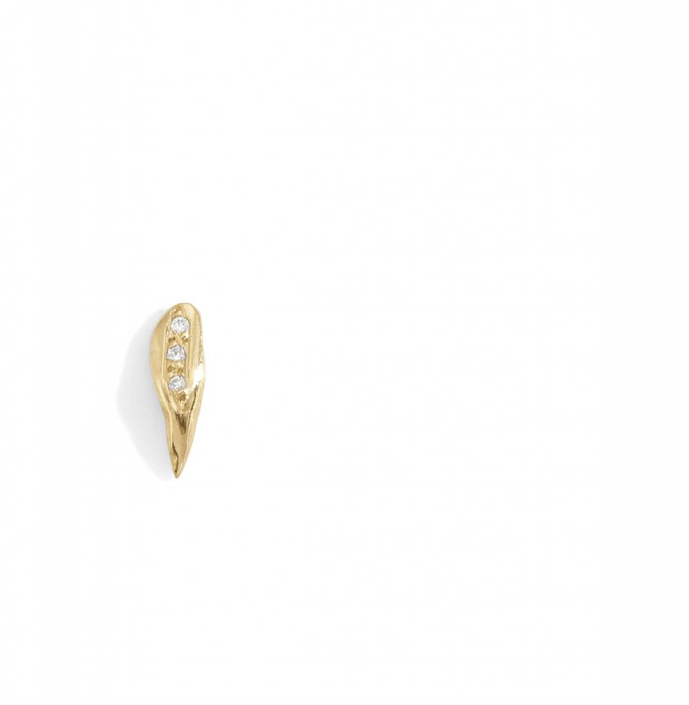 blanca monros gomez small wavy stud white diamond - single