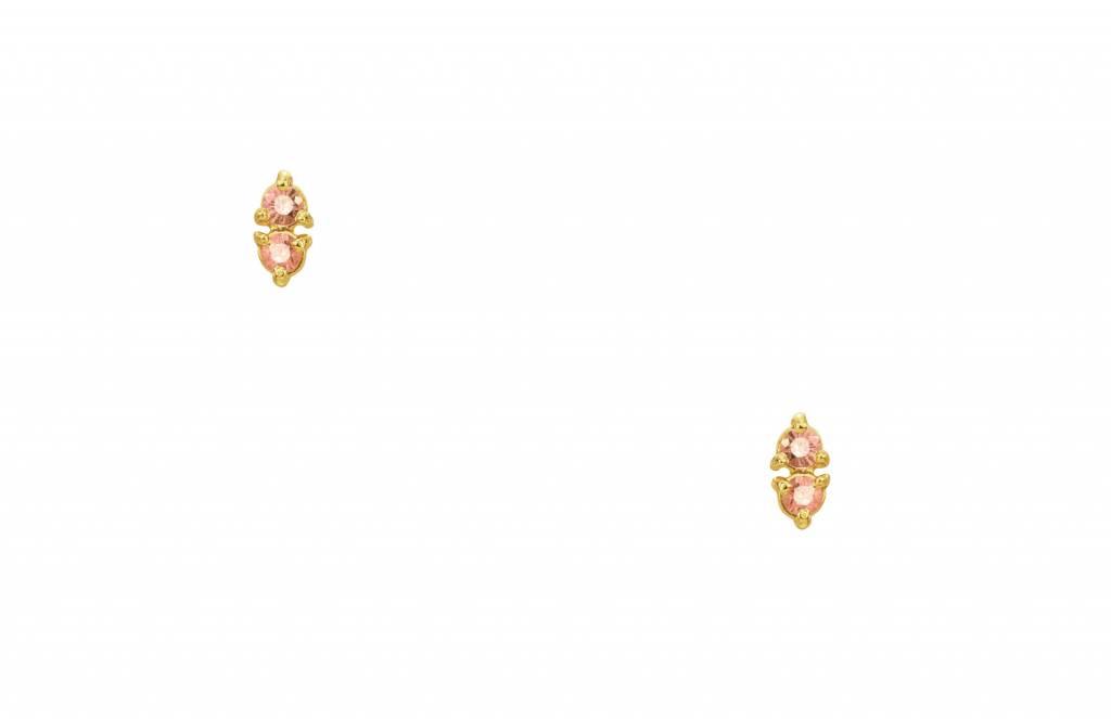 wwake two step earrings pink sapphire