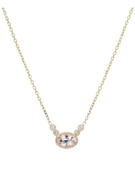 jennie kwon designs morganite green sapphire diamond dew necklace