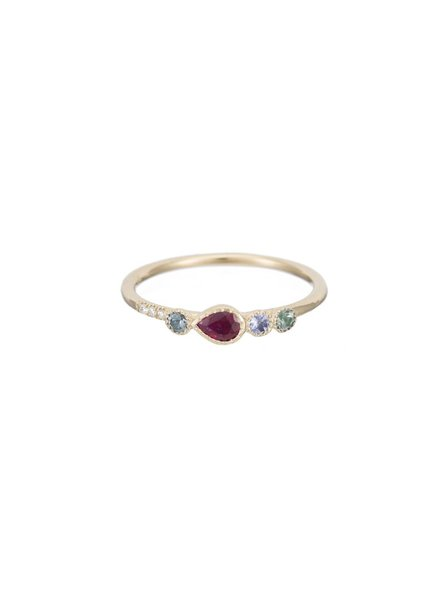 jennie kwon designs ruby teardrop diamond ring