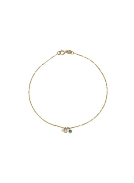 jennie kwon designs emerald diamond moon drop bracelet