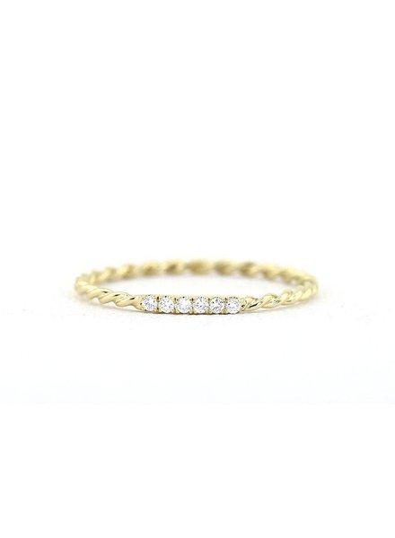 ferkos fine jewelry twisted diamond wedding band